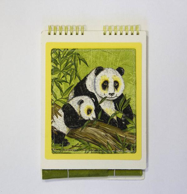"""Скетчбук EcoPad """"Панды"""" и шариковая экоручка"""