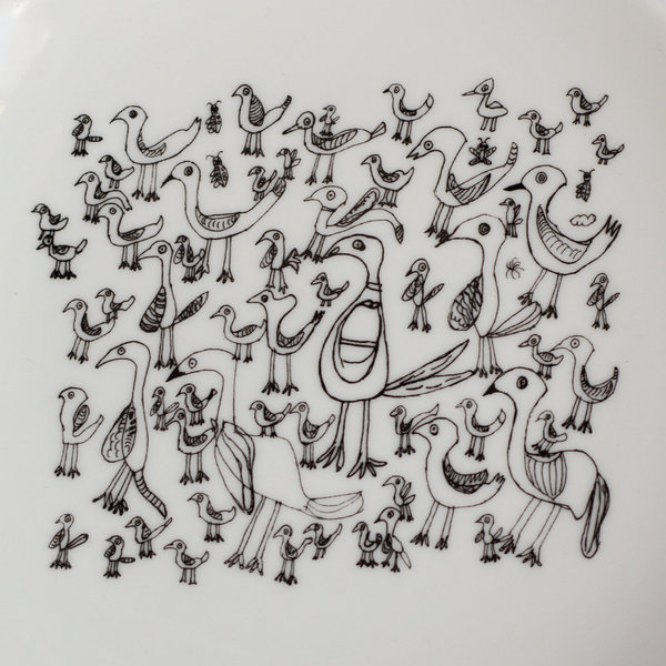 Особая керамика: тарелка «Птички» маленькая