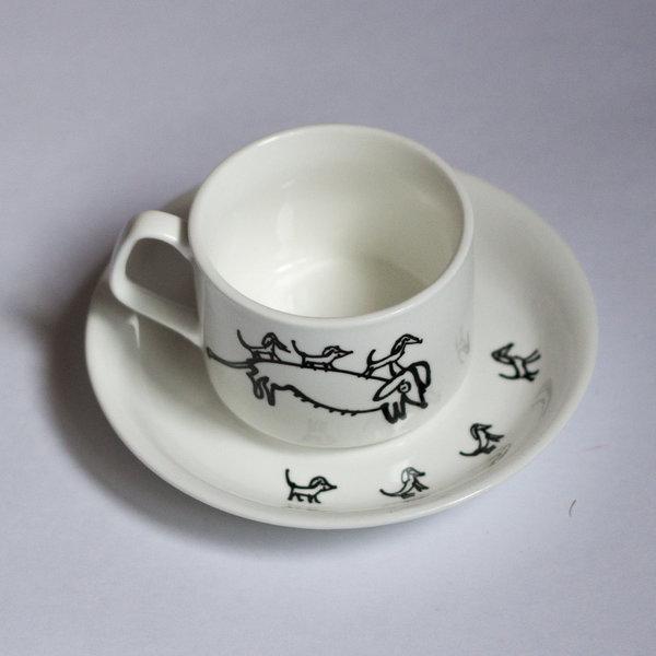 Особая керамика: чайная пара «Таксы»