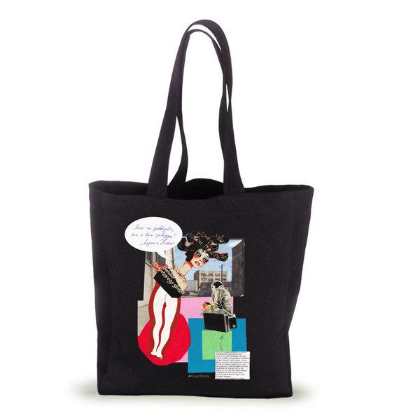 Сумка с принтом-коллажем по мотивам картины «Девочка на шаре» Пабло Пикассо