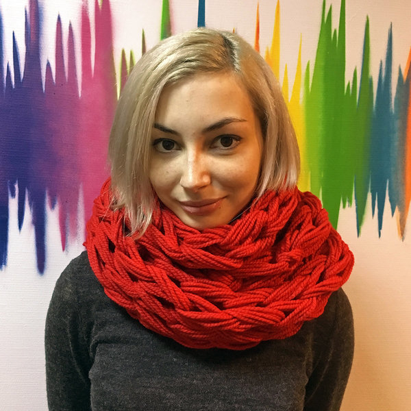 Шарф-снуд объемный от Sasha's knits