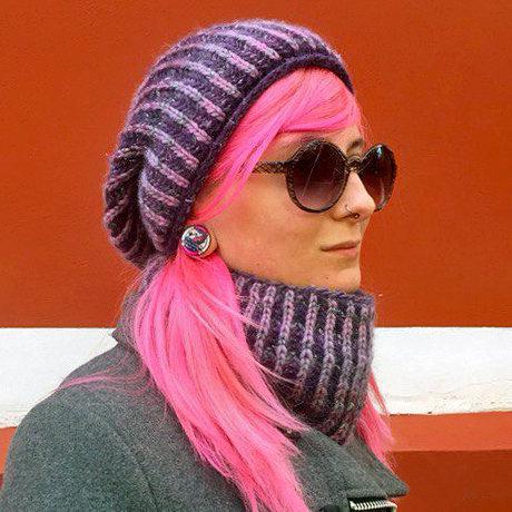 Вязаный комплект шапка + снуд от Sasha's knits