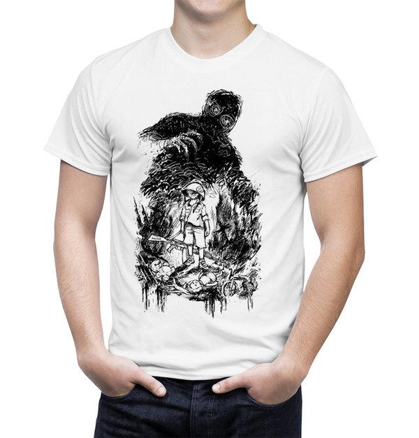 Lumen: белая футболка с принтом победителя творческого конкурса