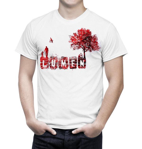 Lumen: белая футболка «Сын. Дом. Дерево»