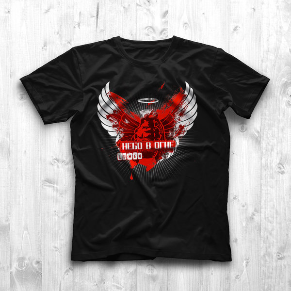 Lumen: черная футболка «Небо в огне»